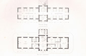 Architect's Drawing - Hospice of Saint-Illide - Cantal (M. Magne)