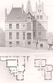 Architektenzeichnung - Les Mureaux - Haus - Maison d'Habitation (J. Saulnier)