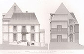 Architect's Drawing - Neuvy-le-Roi - City Hall and Courthouse (L.C. Boileau)
