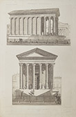 Vue de Nîmes - Maison Carrée - Temple Romain (Gard - France)