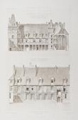 Blois Castle - Centre-Val de Loire - Loir-et-Cher (France) - Facades of the Louis XII wing before restoration