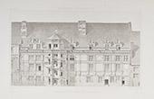 Blois Castle - Centre-Val de Loire - Loir-et-Cher (France) - Facades of the Francis I wing before restoration