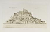 St Michael's Mount in 1873 - Mont-Saint-Michel - Abbey - Lower Normandy - Manche (France)