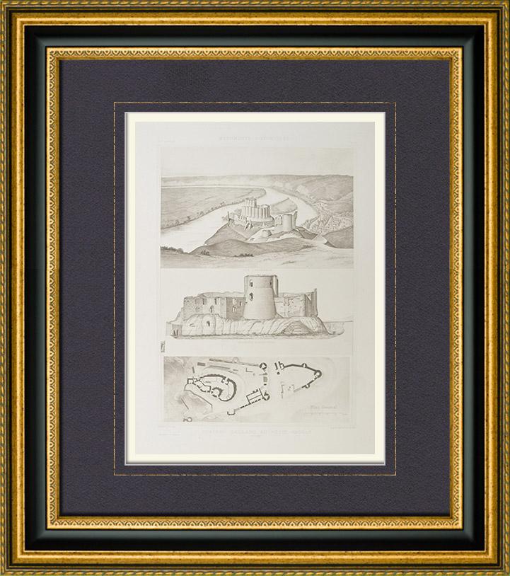 alte stiche ch teau gaillard les andelys haute normandie eure frankreich. Black Bedroom Furniture Sets. Home Design Ideas