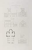 Church of Chauvigny in 1854 - Poitou-Charentes - Vienna (France)