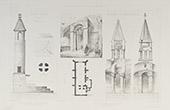 Totenleuchte in Château-Larcher - Vienne - Kirche von Melleran - Poitou-Charentes - Deux-Sèvres (Frankreich)