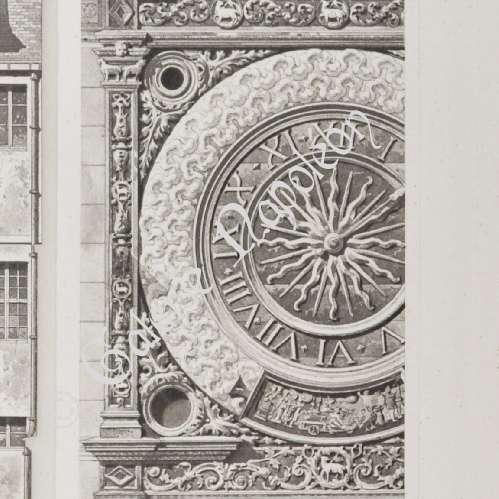 alte stiche gros horloge von rouen haute normandie seine maritime frankreich. Black Bedroom Furniture Sets. Home Design Ideas