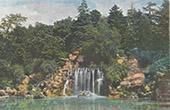 Stadtrand Paris - Bois de Boulogne - Wasserfall - �le-de-France (Frankreich)