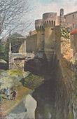 Castle of Pernes-les-Fontaines - Porte Villeneuve - Provence - Vaucluse (France)