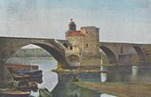 View of Avignon - Pont Saint-Bénézet - Provence - Vaucluse (France)