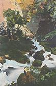Landscape of Vaucluse - Fontaine de Vaucluse - Source of Sorgue River (France)
