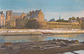 View of Nantes - Castle of the Dukes of Brittany - Loire-Atlantique (France)