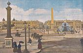 View of Paris - Place de la Concorde (France)