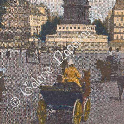 gravures anciennes vue de paris place de la bastille colonne de juillet france. Black Bedroom Furniture Sets. Home Design Ideas