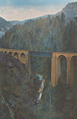 Lioran Railway - Bridge - Cantal - Auvergne (France)