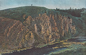 Valley of the Creuse - Cliffs - Rocher de la Fileuse - Indre (France)