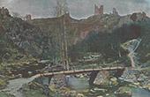 Paysage - Ruines de l'ancienne Forteresse de Crozant - Creuse (France)