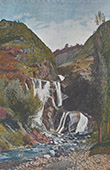 Franz�sische Alpen - Wasserfall - Cascade de la Sarenne - Oisans - Is�re (Frankreich)