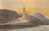 View of Lourdes - Basilica - Midi-Pyrénées - Hautes-Pyrénées (France)