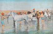 Soldaten - Meeresbad - Pferde (Frankreich)