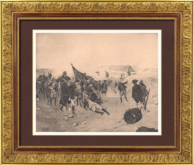 Gravures Anciennes & Dessins | Siège de Québec - Guerre de Sept Ans (1759) | Photogravure | 1900