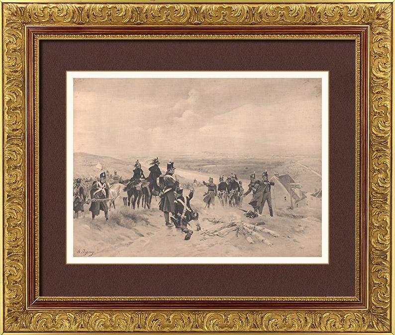 Gravures Anciennes & Dessins | Les Alliés devant Paris - Bataille de Paris - Guerres Napoléoniennes - Armée Autrichienne - Armée Prussienne (30 Mars 1814) | Photogravure | 1900