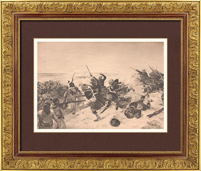Gravures Anciennes & Dessins | Bataille de Tel el-Kebir - Kassassin - Egypte - Guerre Anglo-égyptienne (13 September 1882) | Photogravure | 1900