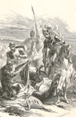 Death of Antoine of Burgundy at the battle of Agincourt
