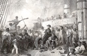 The Death of Admiral Magon aboard Algesiras at the Battle of Trafalgar