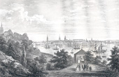 View of the Bay of Stockholm (Sweden) in the 19th Century