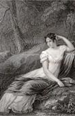 Stich von Porträt der Kaiserin Joséphine (1763-1814)