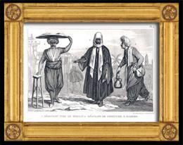 Turquía Siglo 18 - Vestuario de un comerciante turco de Merdin, un comerciante de mermelada y un Barbero