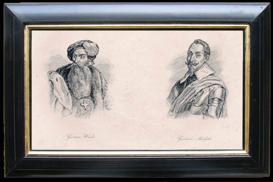 Antique Prints & Drawings | Portraits of the Kings of Sweden - Gustave Vasa and Gustave Adolphe | Engraving | 1810