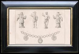 Statuetten und Goldhalskette - Darstellung von Odin und von Tyr - Göttlichkeiten der Skandinaviermythologie