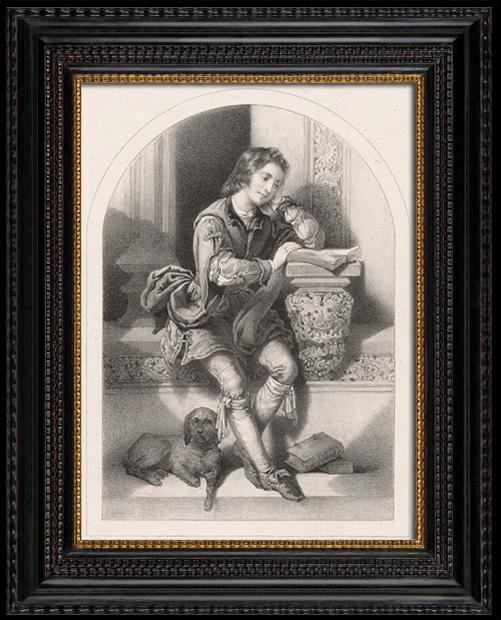 Gravures Anciennes & Dessins | Portrait de Luther enfant (Jacques Joseph Lecurieux) | Lithographie | 1840