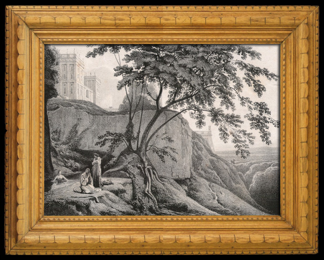 Gravures Anciennes & Dessins | Une Villa italienne (Théodore d'Aligny) | Lithographie | 1841