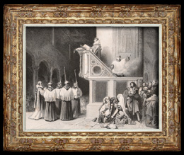 Messwert des Evangeliums in der Kirche von Santa Maria in Aracoeli (Blanchard)
