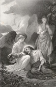 Biblical scene : The Agony of Jesus in Gethsemane, The Garden of Olives (Alexandre Cabanel)