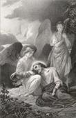 Biblical scene : The Agony of Jesus in Gethsemane, The Garden of Olives (Alexandre Cabanel)