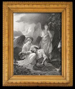 Biblische Szene : Der Qual Jesus  in Gethsemani  - Olivenb�ume - �lbaum-Garten (Alexandre Cabanel)
