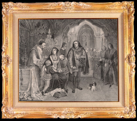 Antique Prints & Drawings   Duke of Gloucester and the Children of Edward IV (Nicolas Gosse)   Lithography   1840