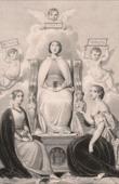 Lithographie von Drei poetische Lieben (Louis Boulanger)