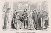 The king Charles VI of France coming back under the obedience of the Pope (1417)