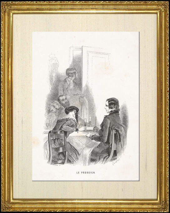 Antique Prints & Drawings   Genre scene, Costume and Tradition of the World : The Prussian (Prussia)   Intaglio print   1892
