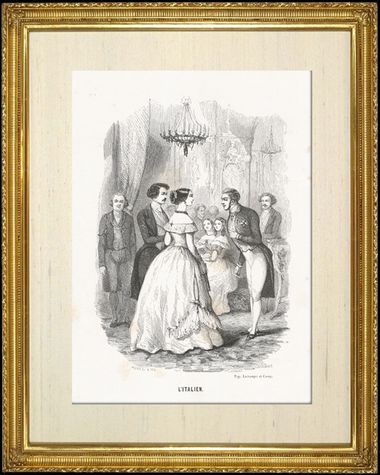 Antique Prints & Drawings | Genre scene, Costume and Tradition of the World : The Italian (Italy) | Intaglio print | 1892