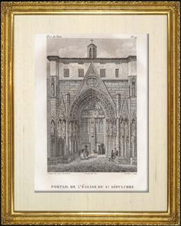 Geschichte und Denkm�ler von Paris - T�r der Kirche das Heilige Grab (�glise du Saint S�pulchre)