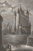 Stich von Geschichte und Denkmäler von Paris - Temple - Gefängnis - Schloss