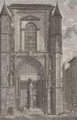 Stich von Geschichte und Denkmäler von Paris - Tür des Kapelle  Saint Yves