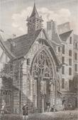 Stich von Geschichte und Denkmäler von Paris - Kirche Saint Julien des Ménétriers
