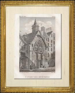 Geschichte und Denkm�ler von Paris - Kirche Saint Julien des M�n�triers